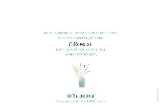 Carte de remerciement mariage Bouquet sauvage rose - Page 2