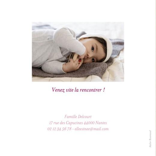 Faire-part de naissance Gypsophile 2 photos kraft rose - Page 4