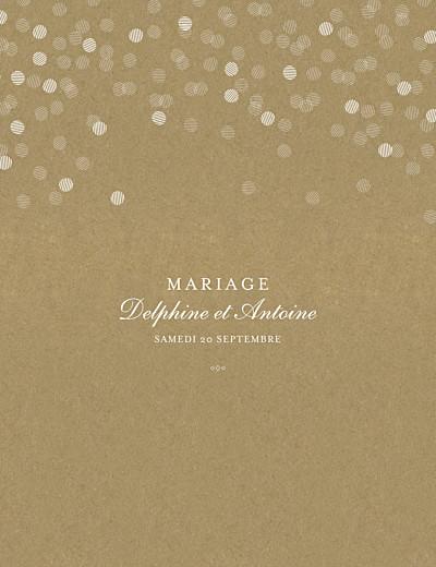Faire-part de mariage Polka portrait kraft finition