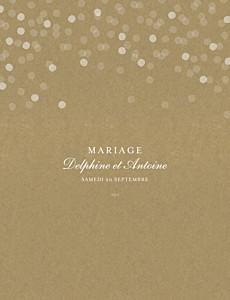 Faire-part de mariage vintage polka portrait kraft