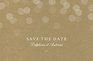 Save the date marron polka kraft