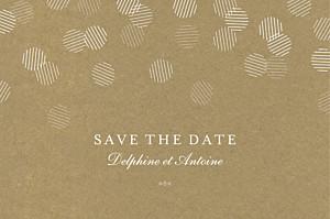 Save the date marron polka kraft