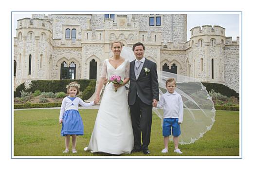 Carte de remerciement mariage Chic liseré bleu