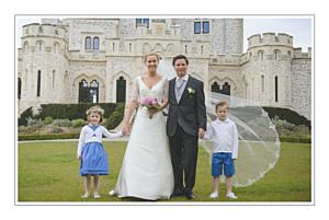 Carte de remerciement mariage Chic liseré gris foncé
