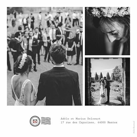 Carte de remerciement mariage Pictos corail et vert - Page 2