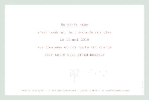Faire-part de naissance Moulin à vent paysage vert pâle - Page 2