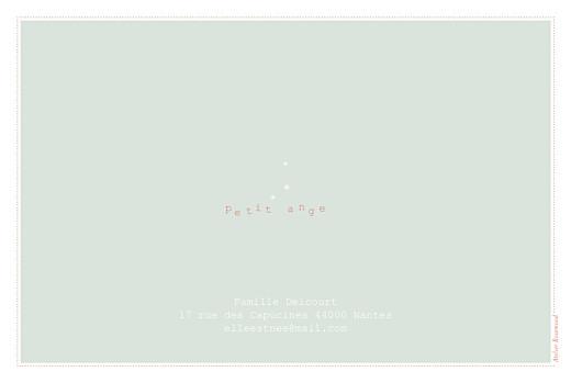 Faire-part de naissance Moulin à vent (4 pages) vert pâle