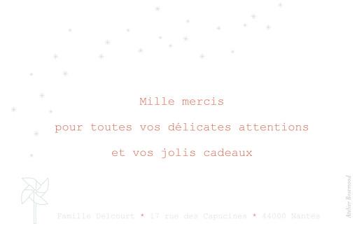 Carte de remerciement Moulin à vent vert pâle - Page 2