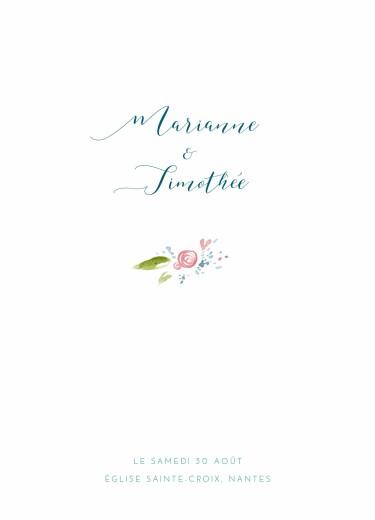 Livret de messe mariage Journée de printemps blanc