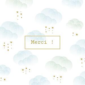 Carte de remerciement Petite brume bleu