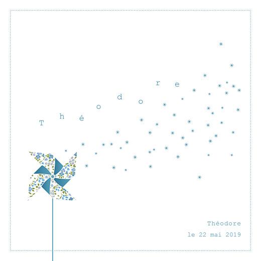 Faire-part de naissance Moulin à vent blanc bleu