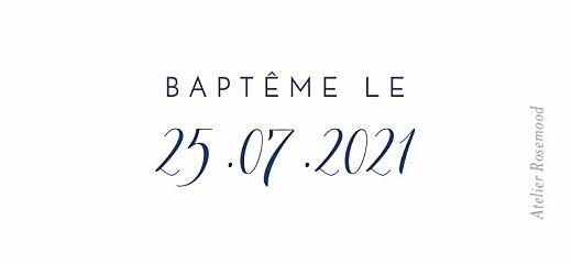 Etiquette perforée baptême Son prénom bleu nuit - Page 2