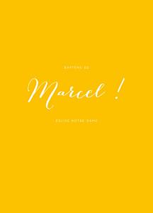 Livret de messe jaune son prénom soleil