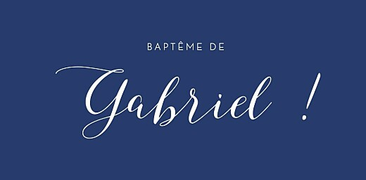 Marque-place Baptême Son prénom bleu nuit - Page 4