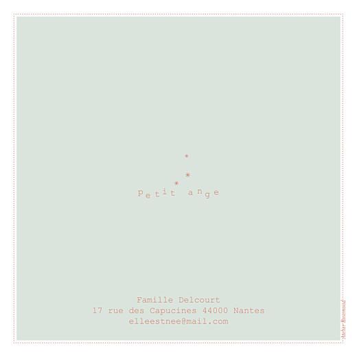 Faire-part de naissance Moulin à vent carré (4 pages) vert pâle