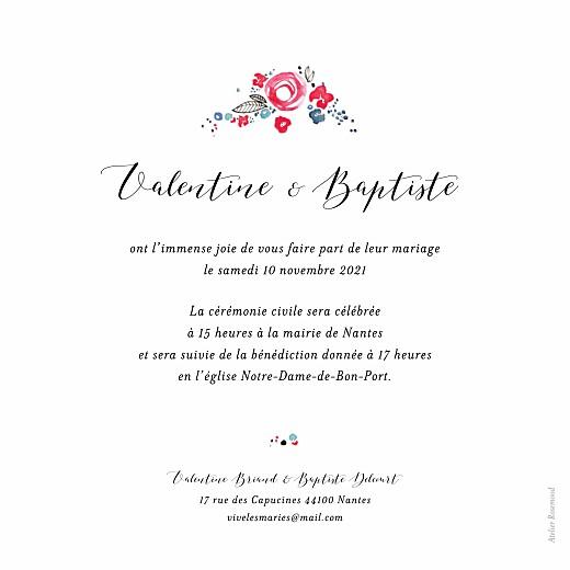 Faire-part de mariage Romance blanc - Page 2