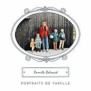 Carte de voeux Portraits de famille bleu page 1