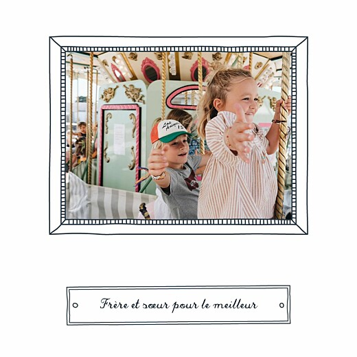 Carte de voeux Portraits de famille bleu - Page 5