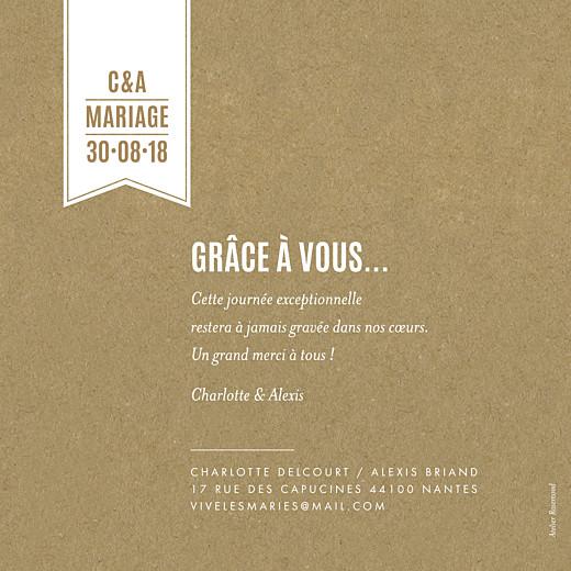 Carte de remerciement mariage L'annonce kraft & bleu-violet - Page 2