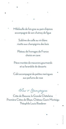 Menu de mariage Nuit d'été bleu - Page 2