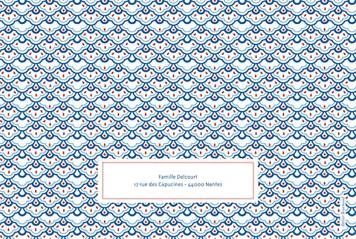 Faire-part de naissance Pattern paysage 2 photos rouge bleu