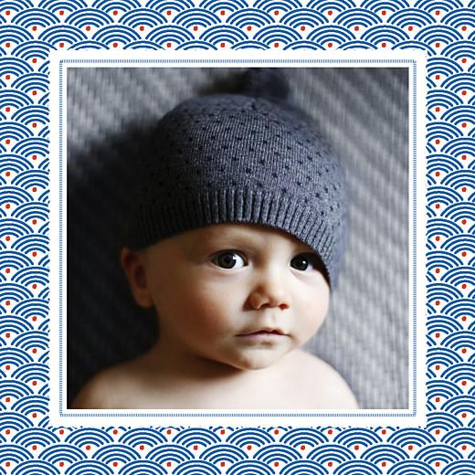 Faire-part de naissance Petit pattern (triptyque) bleu, blanc & rouge - Page 5