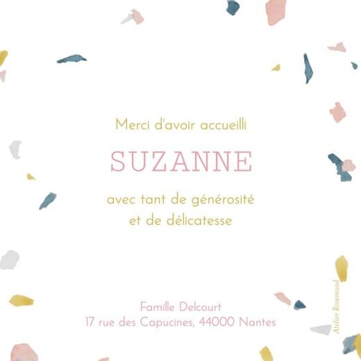 Carte de remerciement Petit granite rose & ocre - Page 2
