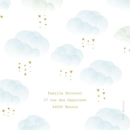 Faire-part de naissance Brume (triptyque) bleu - Page 3