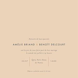 Faire-part de mariage Lettres d'amour (dorure) rose
