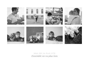 Affiche Souvenir 8 photos paysage blanc