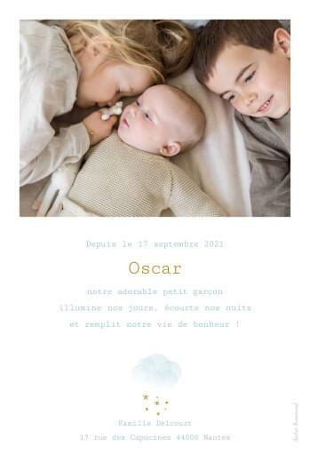 Faire-part de naissance Brume (portrait) bleu - Page 2