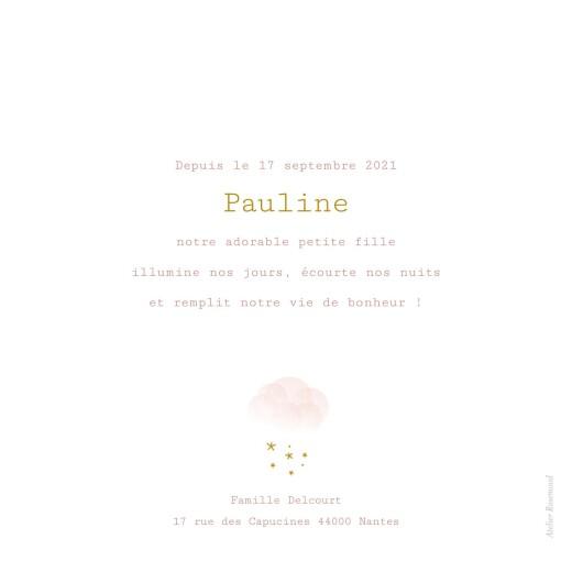 Faire-part de naissance Brume rose - Page 2