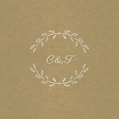 Carton d'invitation mariage Poème kraft finition