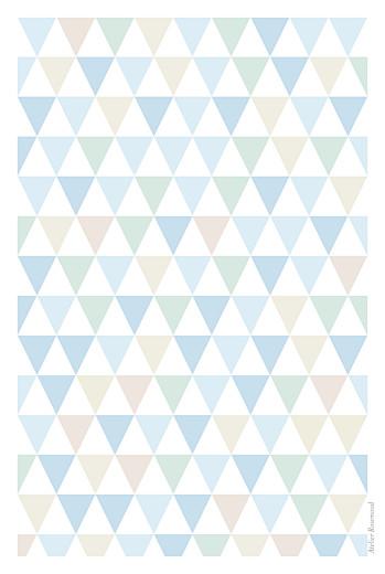 Menu de baptême Triangles bleu - Page 4