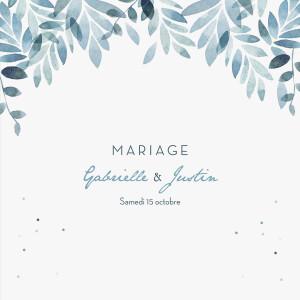 Faire-part de mariage Nuit d'été (4 pages) bleu