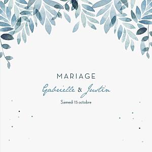 Faire-part de mariage my lovely thing  nuit d'été (4 pages) bleu