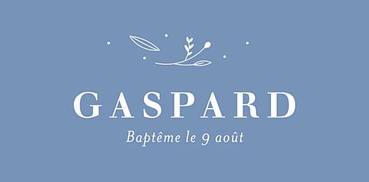 Marque-place Baptême Élégant feuillage bleu - Page 4