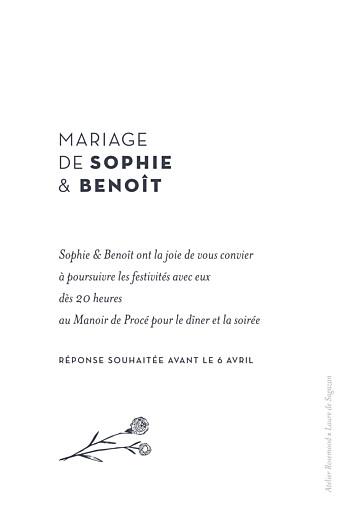 Carton d'invitation mariage Laure de sagazan (dorure) blanc - Page 2