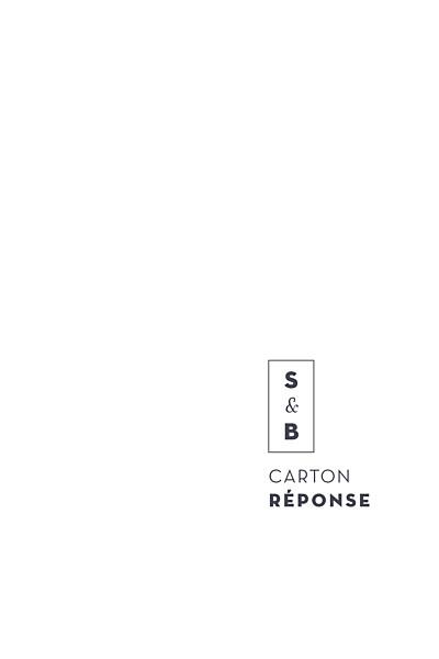 Carton réponse mariage Laure de sagazan (dorure) blanc finition