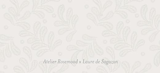 Etiquette de mariage Laure de sagazan blanc