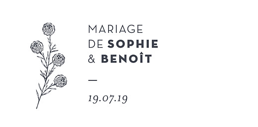 Marque-place mariage Laure de sagazan blanc