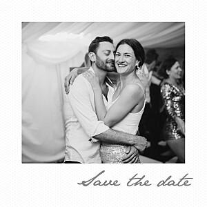 Save the date marion bizet petit polaroid blanc