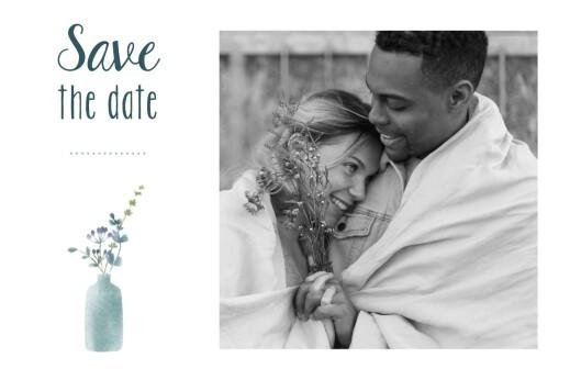 Save the Date Bouquet sauvage bleu