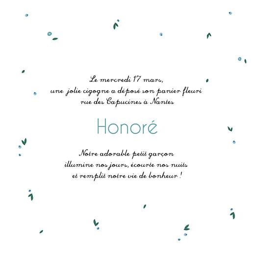 Faire-part de naissance Cigogne bleu - Page 3