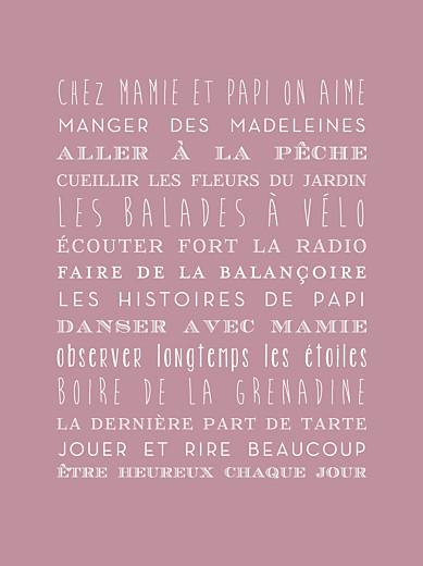 Affiche Bonne fête mamie rose - Page 1