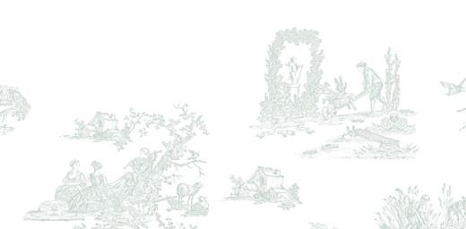 Marque-place Baptême Toile de jouy vert pâle - Page 4