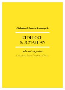 Livret de messe mariage Un grand oui ! jaune