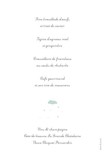 Menu de baptême Petit village bleu - Page 2