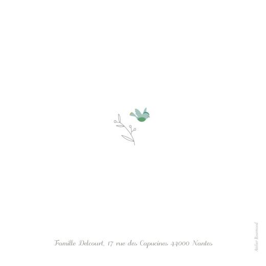 Faire-part de naissance Oiseaux multicolores 3 photos rose - Page 4
