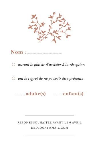 Carton réponse mariage Reflets dans l'eau (dorure) rouge - Page 2